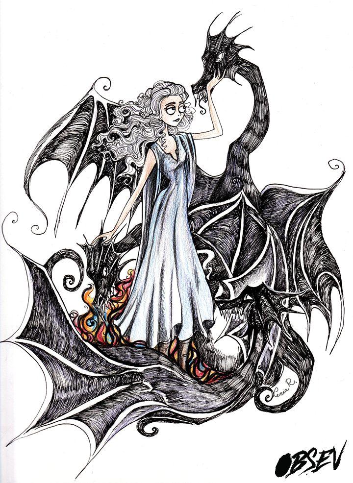 Danerys TargaryenAnd Her Dragons
