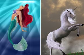 Which Mythical Creature Would You Be? Take quizzes and chill with the BuzzFeed app. Get the app You got: You're a mermaid You love to swim and your favorite color is blue. You're super friendly to everyone you meet and you're not afraid of anything.