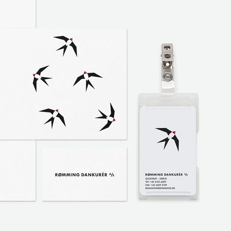 Rømming Dankurér A/S visual identity by Paper Beat Rock #paperbeatrock #pbr #designbureau #copenhagen #rømmingdankurer #distribution #visual #identity #swallow #graphic #design #logo #typography #type #branding #van