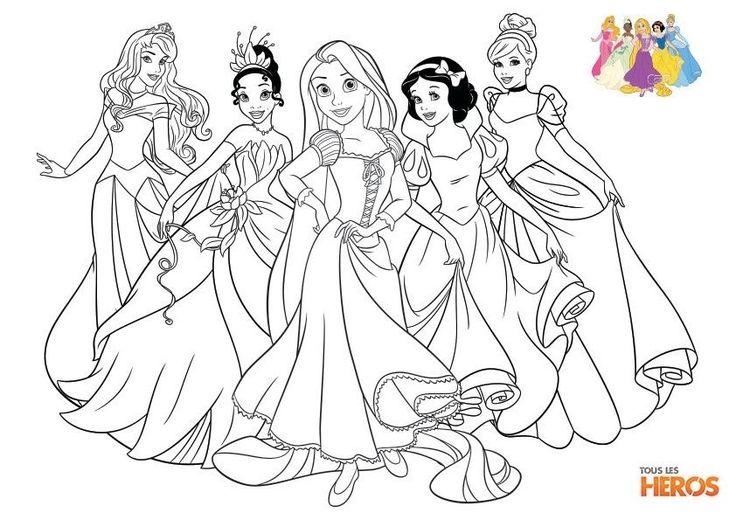 Coloriage Princesse Aurore New Coloriages Les Princesses Disney tous Les Heros | Coloriage ...