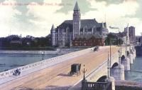Main Street Bridge and Steele High School, Dayton, Ohio 1900s