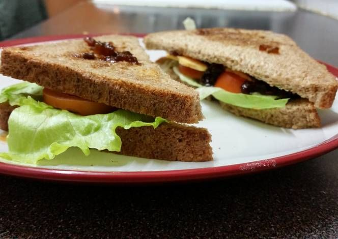 Ploughman sandwich Recipe -  Yummy this dish is very delicous. Let's make Ploughman sandwich in your home!
