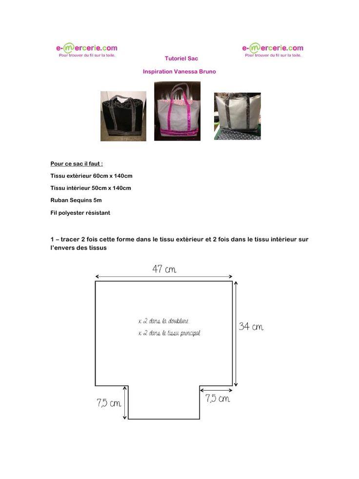 tutoriel sac inspiration vanessa bruno fichier pdf couture sacs pinterest. Black Bedroom Furniture Sets. Home Design Ideas