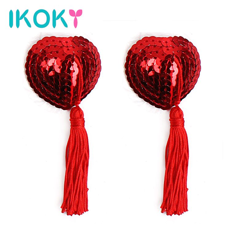 IKOKY 1 Pair Nipple Stickers Sex Toys for Couple Sequins Heart-shaped  Adult Games Breast Bra Nipple Cover Clamps Erotic Toys #Affiliate