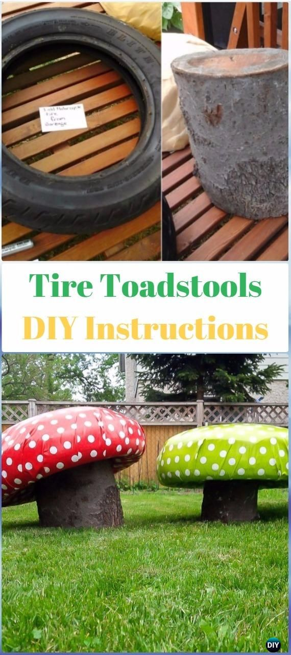 DIY Tire Garden Toadstools Instructions DIY