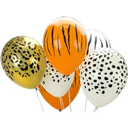 Jungle Party Decorations - Jungle Animal Print Balloons
