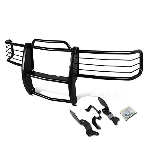 Chevy Silverado 1500-3500 HD Front Bumper Protector Brush Grille Guard (Black). For product info go to:  https://www.caraccessoriesonlinemarket.com/chevy-silverado-1500-3500-hd-front-bumper-protector-brush-grille-guard-black/