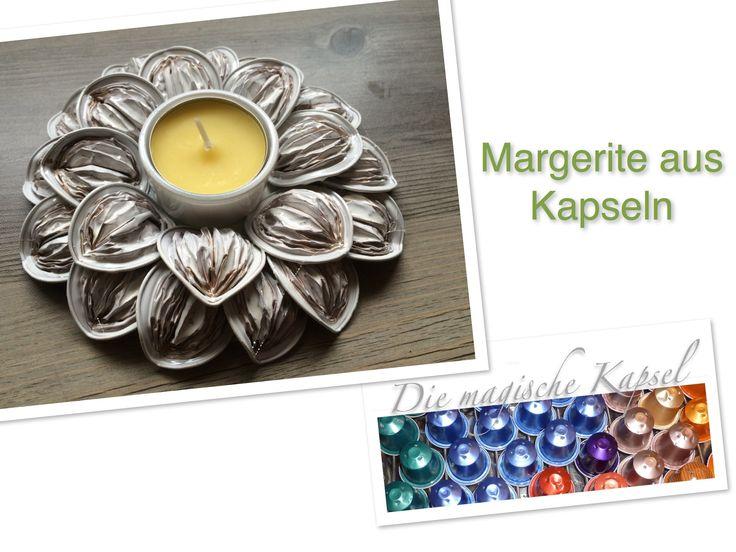 Nespresso Deko-Anleitung - Margerite - die magische (Kaffee-)Kapsel