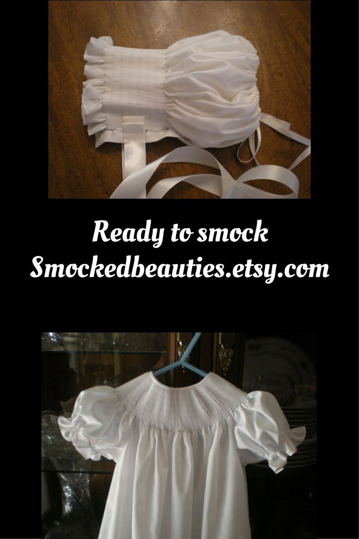 Smock your own design on the ready to smock line at smockedbeauties.etsy.com
