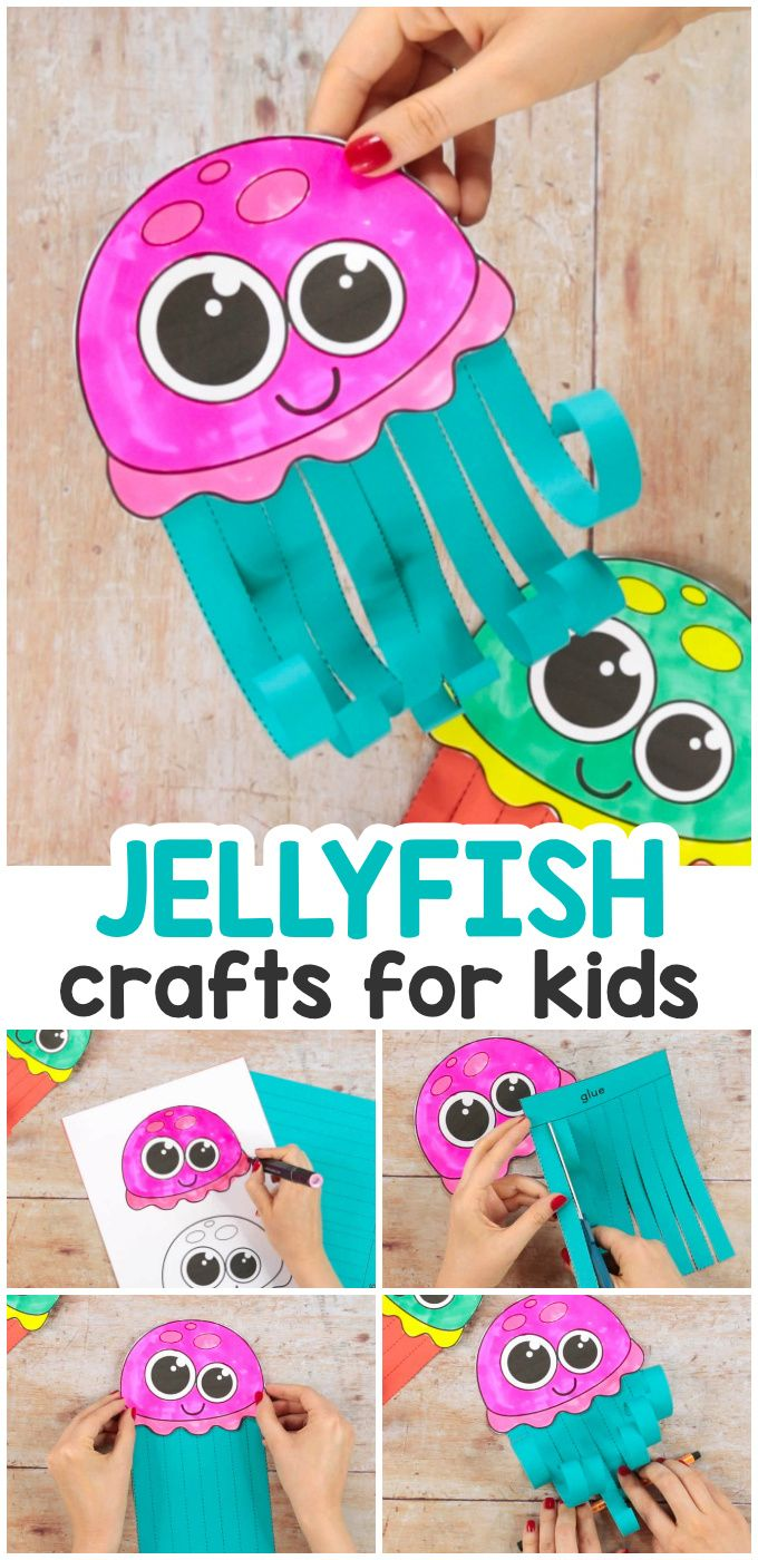 Scissor Skills Jellyfish Craft Arts Crafts For Teens Fun