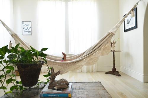 indoor hammock!