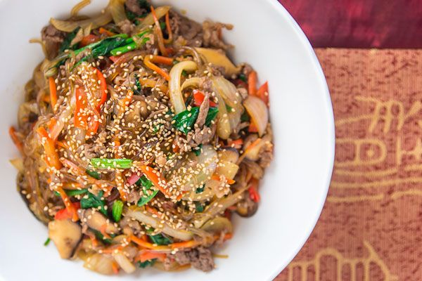 Korean JapchaeKorean Japchae, Korean Food, Vegetarian Recipe, Korean Noodles, Japchae Korean, Korean Language, Korean Dishes, Japchae Recipe, Noodles Dishes