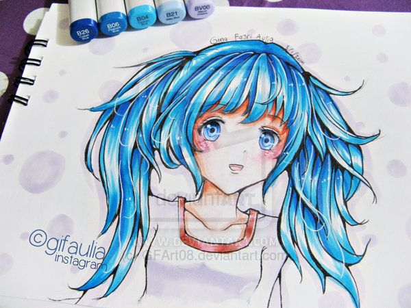 Copic Marker Hair Practice By Gfart08 On Deviantart Copic Markers Copic Sketch Markers Copic