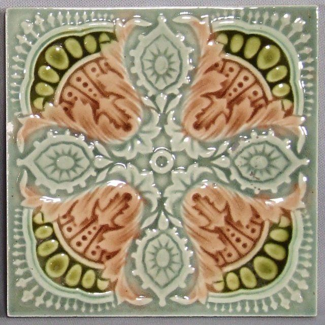 English Majolica Tile For Sale   Antiques.com   Classifieds
