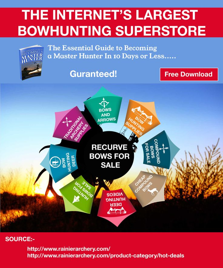 Are you searching for bows and arrows and deer hunting videos? If yes then you are at right place we are professional in this field and supplies bow and arrows and other stuff related too hunting. We offers services like bows and arrows, deer hunting videos, bow hunting deer, traditional archery supplies, bow hunting supplies, compound bows for sale, hunting bows for sale, cheap compound bows, hoyt bows for sale, recurve bows for sale. Contact at Rainierarchery.