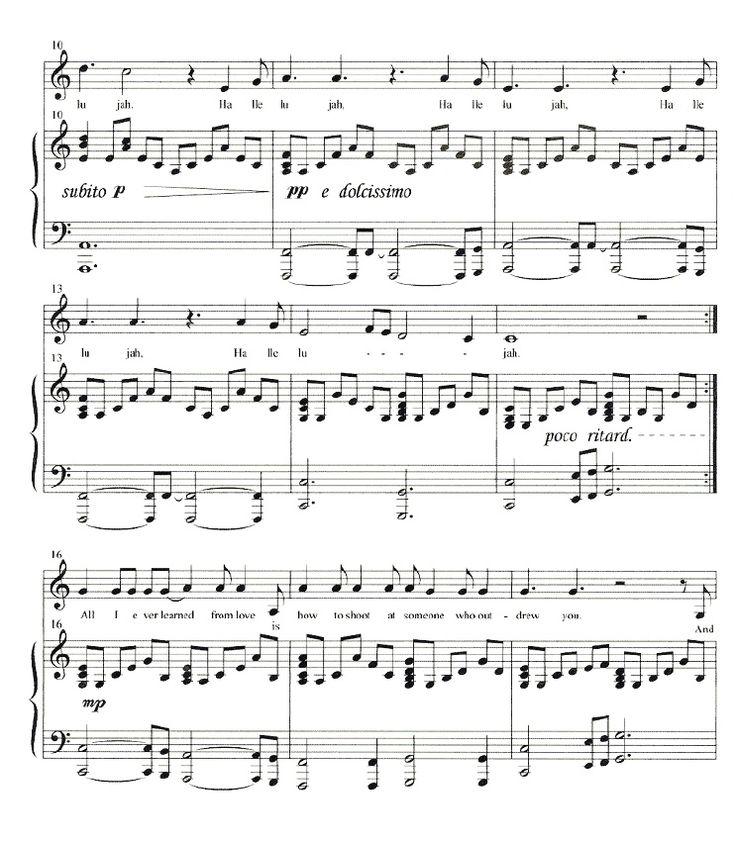 Hallelujah Lyrics And Piano Sheet Music