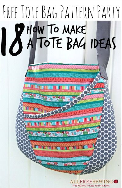 Free Tote Bag Patterns - With the growing popularity of sustainable grocery bag patterns and farmer's markets, tote bag patterns have found a new job as free grocery bag patterns!