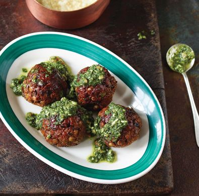 Veggie Balls made with lentils from epicurious - Love these! With pesto or marinara . . . Everyone will enjoy