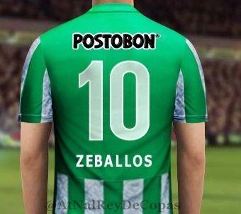 El numero que lucirá el refuerzo Pablo Zeballos en el Nacional #10!