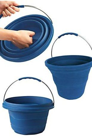25 Ingenious Products That Will Save You So Much Space A collapsible bucket.