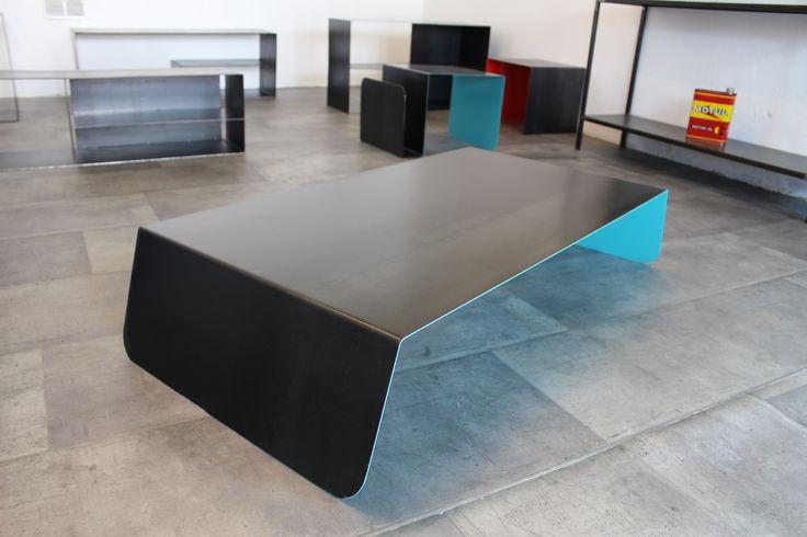 table basse acier
