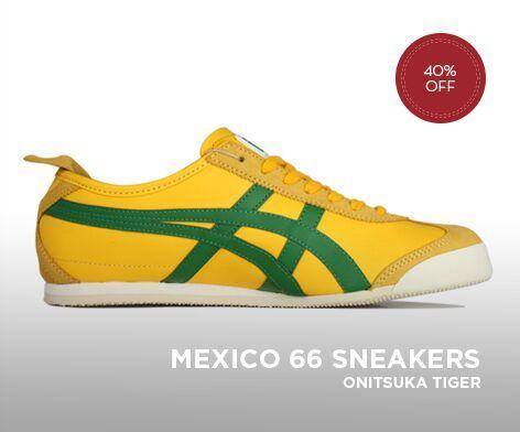 ASICS ONITSUKA TIGER MEXICO 66 MENS SHOES YELLOW/GREEN