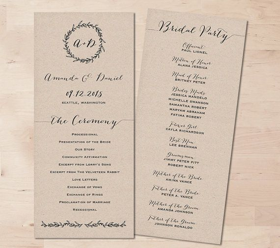 Best 25+ Elegant wedding programs ideas on Pinterest   Wedding day ...