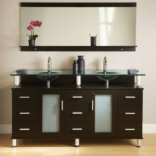 Want this for my master bath. Kokols Double Tempered Glass Top Vanity