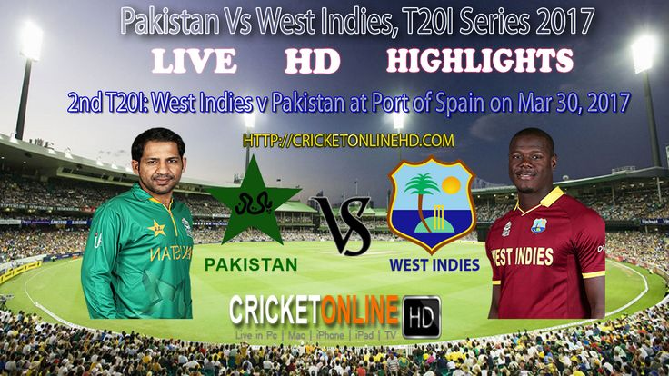 #WIvsPak 2nd T20I: at Port of Spain on Mar 30, 2017 Watch It #LIVE In #HD at http://cricketonlinehd.com/ #HIGHLIGHTS #CRICKET #WestIndies #Pakistan #T20I