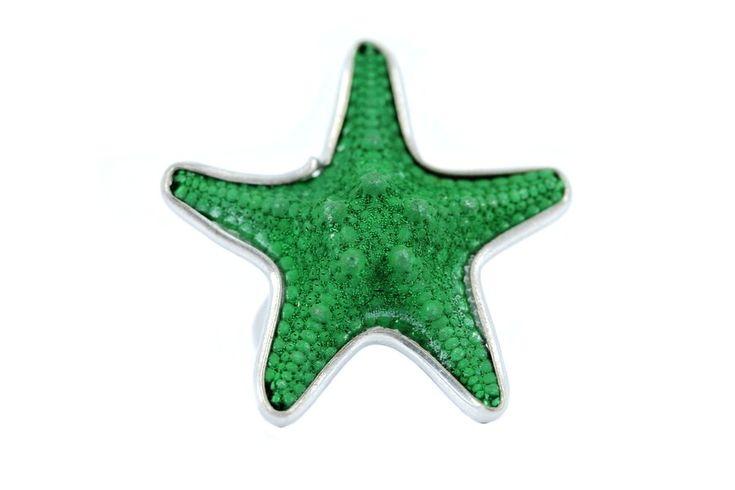 """""""Bague étoile de mer Jade""""-Bague originale femme pas cher"""