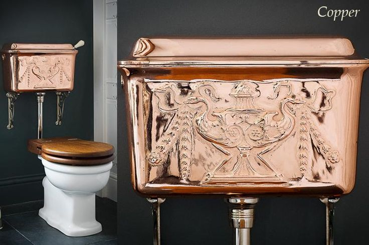 Toilets And Cisterns Low Level Cisterns Painted Decorated Cistern Toilet Cistern Copper