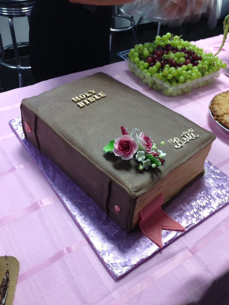Bible cake, duplicated our Great Grandma's Bible for her Memorial.