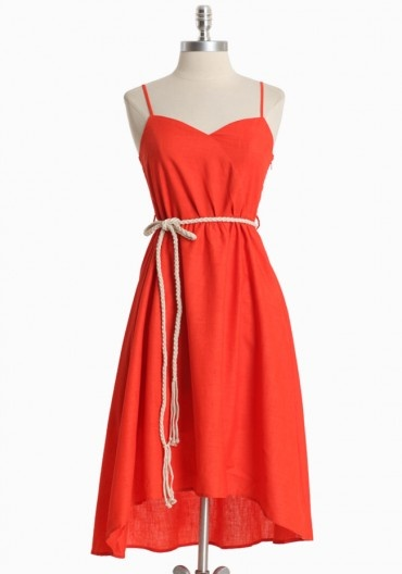 linen and cotton summer party dress.