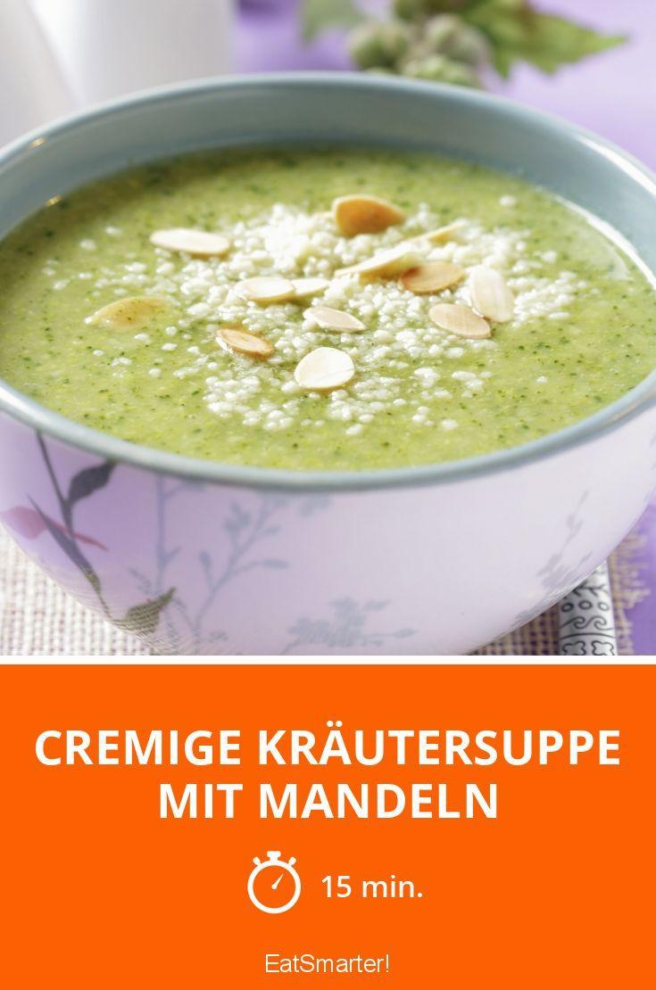 Cremige Kräutersuppe mit Mandeln - smarter - Zeit: 15 Min. | eatsmarter.de