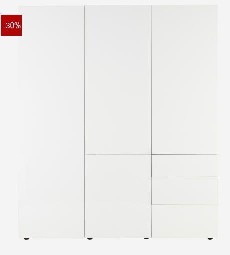 Armoire 3 portes laquée prix promo soldes Habitat 1 400.00 € TTC au lieu de 2 000.00 €