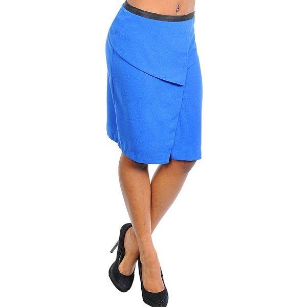 Lange rok met split van Ellison uitgevoerd in blauw en zwart met rits. Gemaakt van 100% polyester.    http://www.lookinggoodtoday.com/dames-kleding/rokken