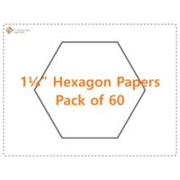"1¼"" Hexagon Papers - Pack of 60"