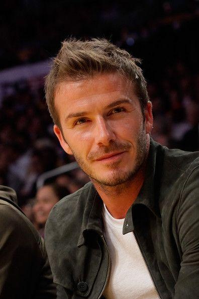 David Beckham Photos - David-Beckham-at-Lakers-game-1