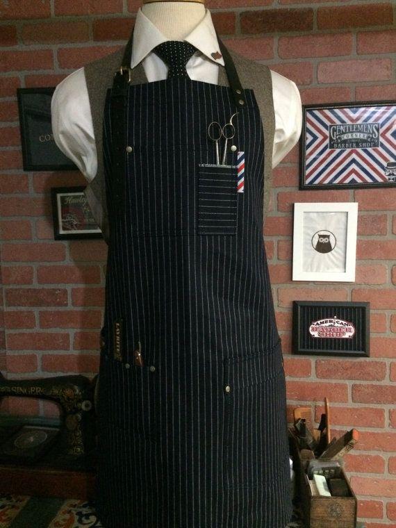 barber apron by sartorandvillain on Etsy