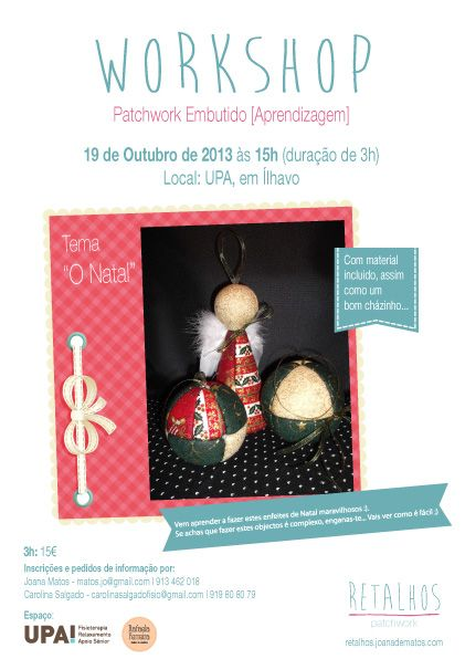 Workshop, em 19 Outubro - UPA, ílhavo, Portugal