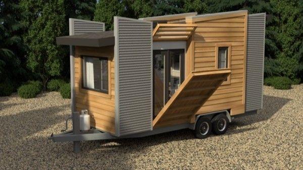 #WhyILikeThisIdea Fold out porch!!! tiny house on wheels.