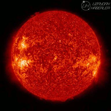 SDO'nun yakaladığı güneş tutulması.