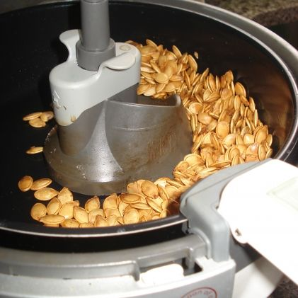 Toasted Pumpkin Seeds. I love my ActiFry!