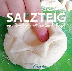 Salzteig ist für Kinder ein großer Spaß: Kneten, trocknen, anmalen ist ideal zum Basteln mit kleinen Kindern. Tolle Geschenkideen mit Salzteig-Rezept
