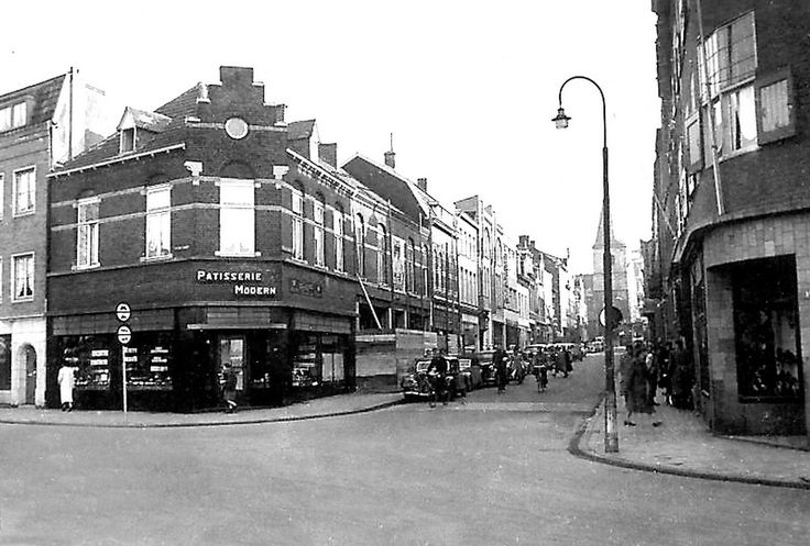 Stationsstraat - Oranje Nassustraat ca 1950.