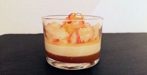 Citrus shrimp salad, orange-chili jelly and sour cream mousse - www.FoodFamily.net #bloggerfuerdogger