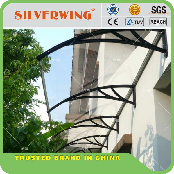 Durable polycarbonate awning wall mount bracket used awnings for sale