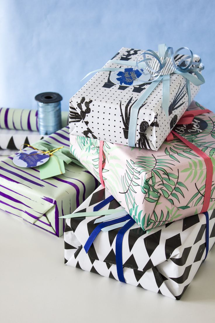 Gift wrapping by Sostrene Grene