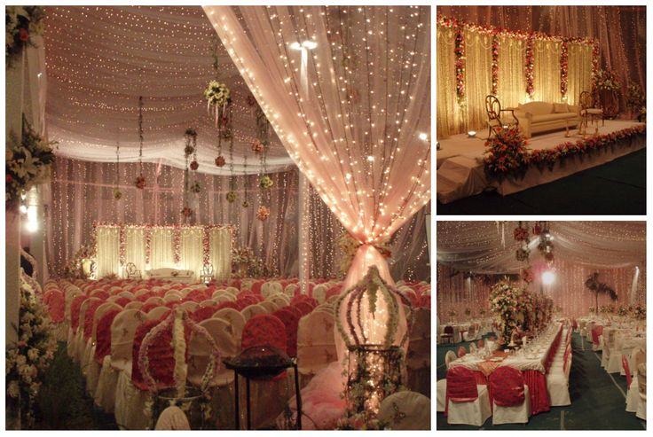 #white #pink #red #headtable #table #decor #theme #bangladeshi #wedding #decor #ceiling #southeastasian #floral #nighttime #gardenwedding #ikebanabd #ikebana #ikebanaBangladesh #ikebanaltd #Bangladesh