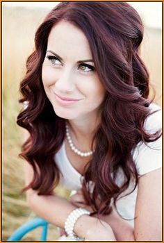 dark mahogany brown hair color - garnier hbc with caramel
